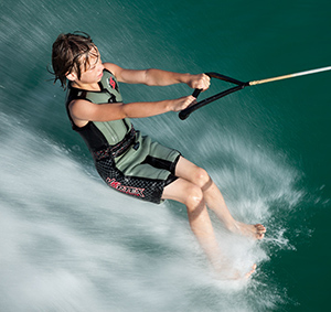 barefoot water ski lessons for kids